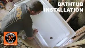 picture of how to install a bathtub make it rock solid