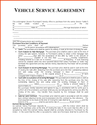 Service Agreement Samples Vehicle Service Agreement Template Agreement Sample Templates