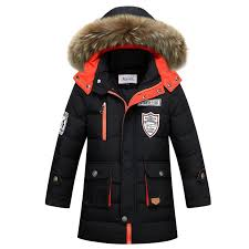 big boys winter jackets true fur hooded down coats for boys thicken outerwear warm down parkas