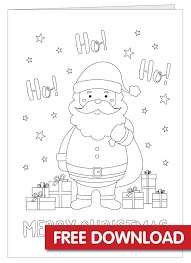 The link for the download is at the bottom of the page. Free Christmas Card Colouring In Printable Bright Star Kids