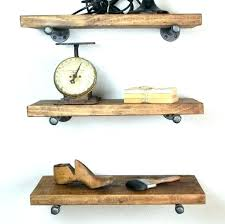 industrial floating shelves set of 3 deep corner with pipe rustic f rustic wall shelves
