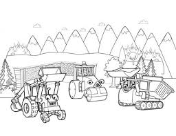 Small Picture Travis The Tractor Coloring Pages Bob The Builder Coloring Pages