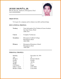 5 Resume Sample Doc Professional Resume List