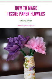 How To Make Flower Out Of Tissue Paper Tissue Craft And Paper Folding