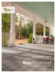 trex transcend porch brochure 1 20 pages