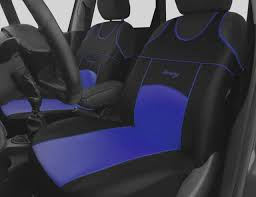 2 blue front eco leather seat covers protectors for vw golf mk6