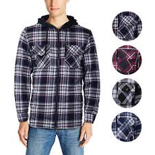 U.S. Life Men's Zip Up Plaid Checkered Quilted Flannel Sweater ... & Image is loading U-S-Life-Men-039-s-Zip-Up-Plaid- Adamdwight.com