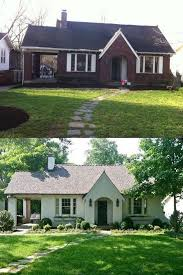 before and after painting brick house jpg 550