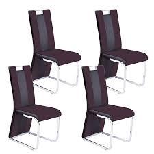 Reality Bari 3 Hochlehner Bezug Braun 4er Set Esszimmerstühle