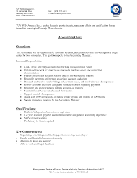 Accounting Clerksume Examples Sample Picture Objective Accounts