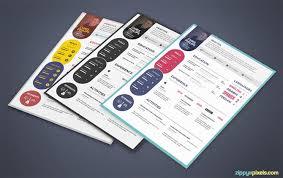 creative free printable resume templates psd resume templates