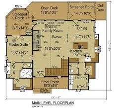 Mountain House   Open Floor Plan by Max Fulbright DesignsFloor Plans