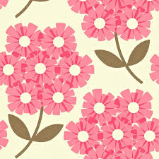 Orla Kiely Behang Giant Rhododendron Pink