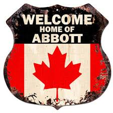 abbott plate chic sign home wall