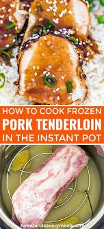 how to cook frozen pork tenderloin in