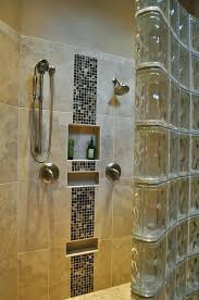 tile bathroom small decoration using glass block shower wall panel including home depot pan