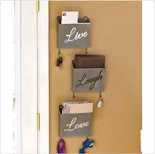 trendy hanging mail holder with mail organizer wall.