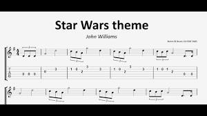 Star Wars theme GUITAR TAB - YouTube