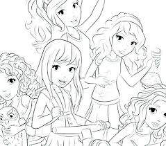 Affordable Lego Friends Coloring Page Waggapoultryclub