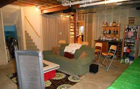 Unfinished Basement Design Awesome Low Budget Unfinished Basement Ideas Unfinished Basement Low Budget