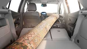 buick encore interior rear. the interior of buick encore seats fold flat and front passenger seat rear o