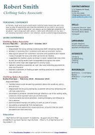 Boutique Owner Resume Clothing Sales Associate Resume Samples Qwikresume