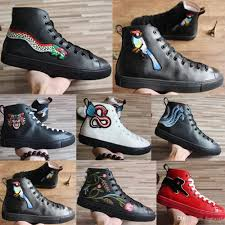 Top Designer Brands For Men S Shoes New Mens Designer High Top Casual Shoes Ace Shoes Tiger Printed Leather Men And Women Brands Casual Shoes 34 46 Italian Shoes Cute Shoes From