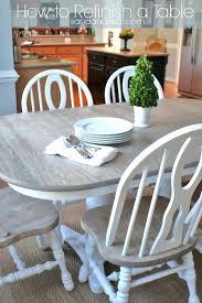 refinish dining room table how to a cost