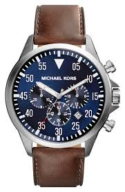 men s michael kors gage chronograph leather strap watch 45mm men s michael kors gage chronograph leather strap