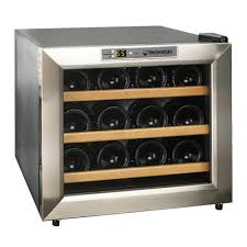 wine enthusiast wine refrigerator. Plain Wine Wine Enthusiast Silent 12Bottle Cooler In Stainless Steel With Wood  Shelves Inside Refrigerator R