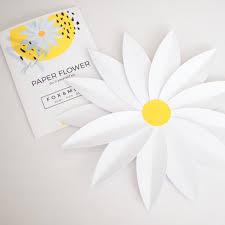 Daisy Paper Flower Paper Daisy Kit