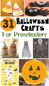 31 easy Halloween craft ideas for preschoolers. These are all VERY doable!