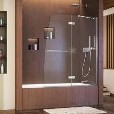 leading faucet brand offers efficient new tub shower option exclusively at the home depot delta curved delta glass shower door installation