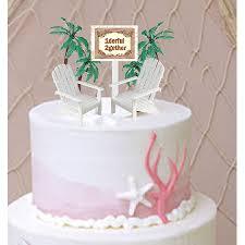 1derful 2gether With 2 Beach Chairs Wedding Anniversary Cake