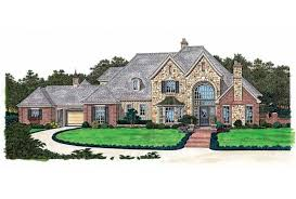 Eplans French Country House Plan   Absolutely Grand Entrance    Front