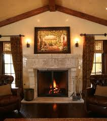 antique stone fireplace mantels terranean living room
