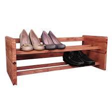 Shoe Rack 2 Tier Aromatic Cedar Shoe Rack A122 The Home Depot