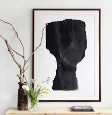 Large Scale Art Large Scale Art Print Abstract Minimalist Black Portrait Big