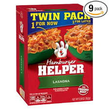 hamburger helper lasagna twin pack 12 8 ounce pack of 9
