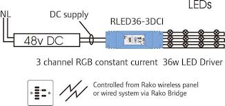 rako wireless lighting rled36 3dci three channel 36w led driver rako wireless lighting rled36 3dci 3 channel 36w led driver module wiring diagram