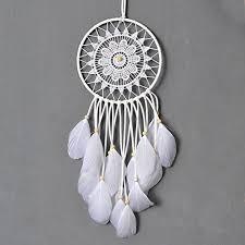 Purchase Dream Catchers Dremisland Dream catcher handmade traditional white feather dream 41