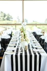 Black White Striped Tablecloth And Table Linen Rental Round. Black And White  Striped Tablecloth Roll Rental Miami Plastic. Pmats Black And White Striped  ...
