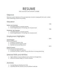 First Time Resume Templates