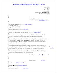 Modified Block Business Letter Brilliant Ideas Of Sample Modified