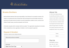 branded request page to receive donation request