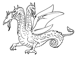 Coloriage De Dragon Facile A Colorier