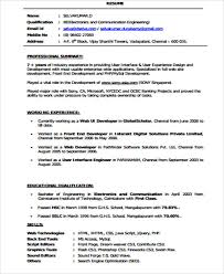 Front End Developer Resume 4