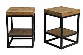 impressive wood side table pertaining to metal and wood side table ordinary