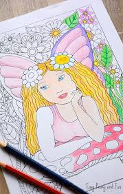 Little Fairy Coloring Page Easy Peasy And Fun