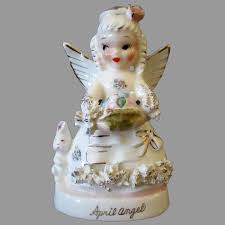 Vintage April Birthday Angel with Easter Theme – Colored Eggs & Bunny :  Ogee's Antiques | Ruby Lane